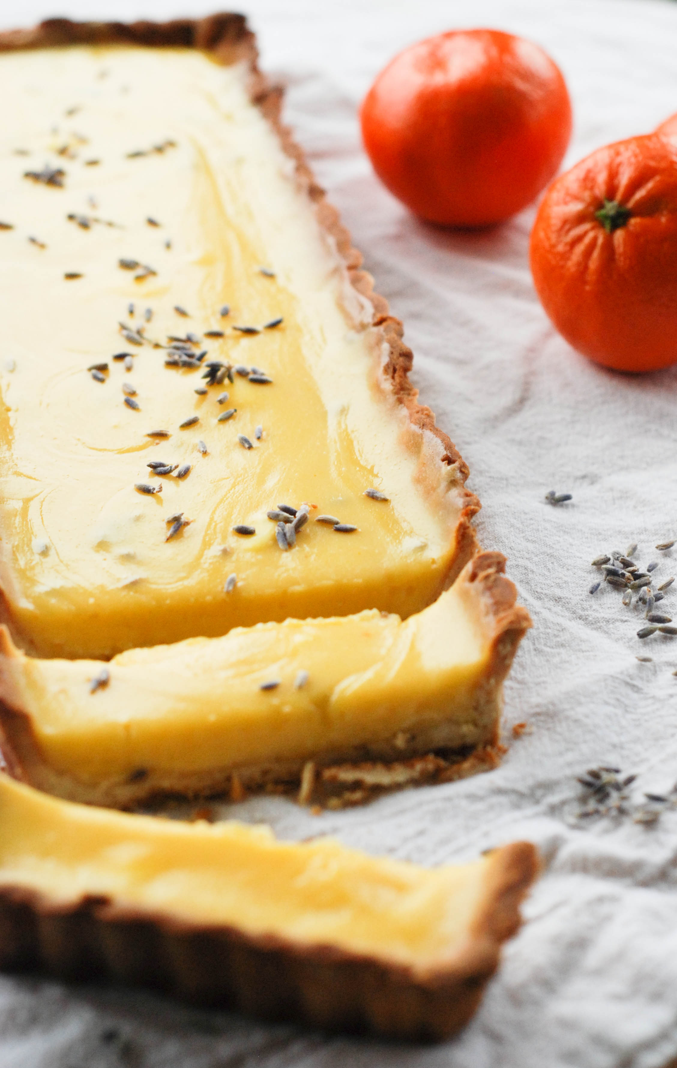 Orange Lavender Tart