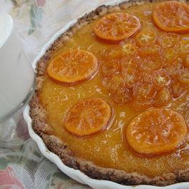 Extreme Mandarin Tart with Kumquat Glaze and Limoncello Syllabub