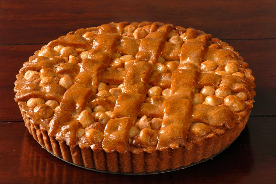 Macadamia Nut Tart with Frangipane and Raspberry Marmaladede
