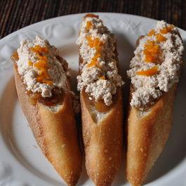 Sweet Almond Chhena Crostini