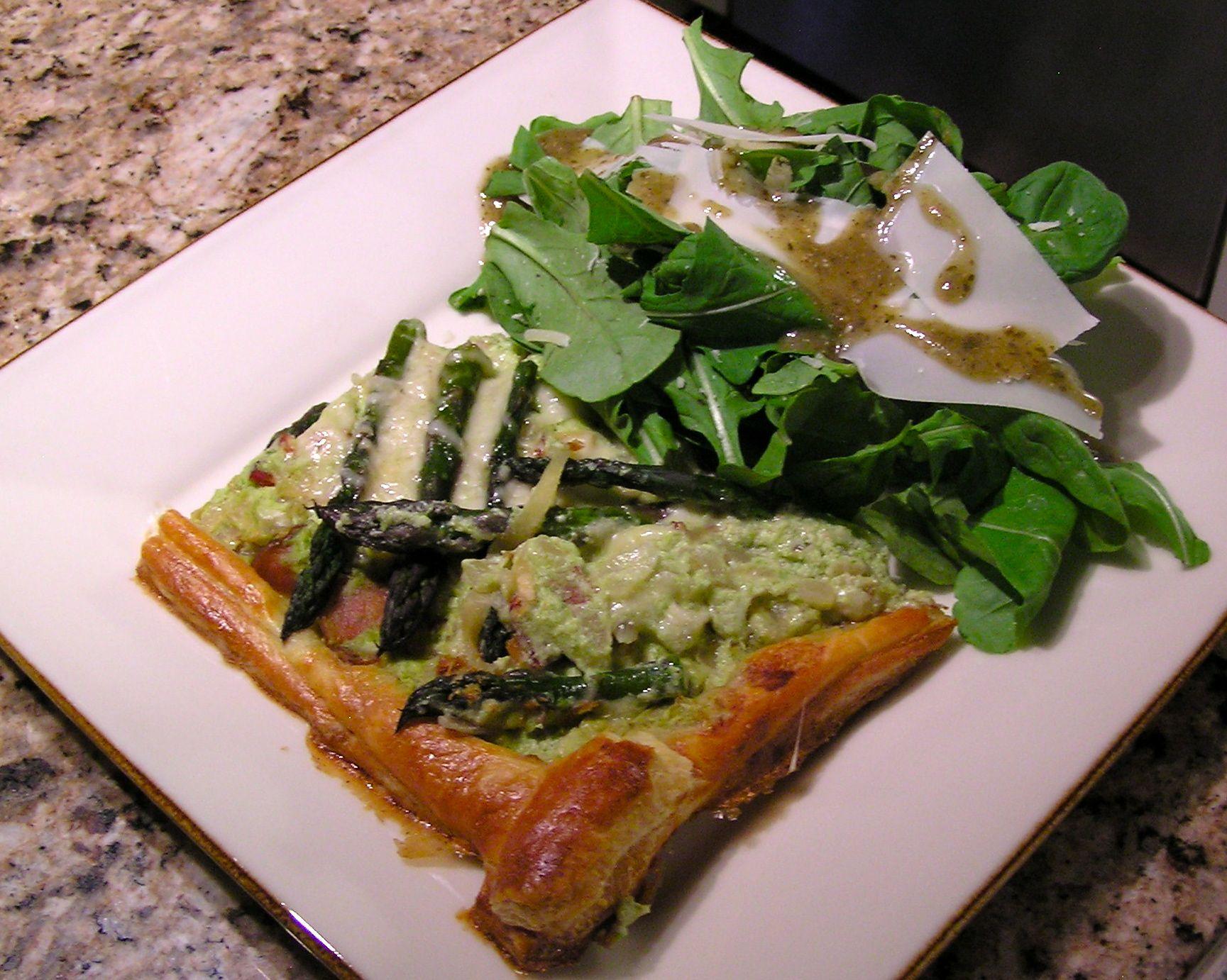 Asparagus, Zucchini and Ricotta Tart