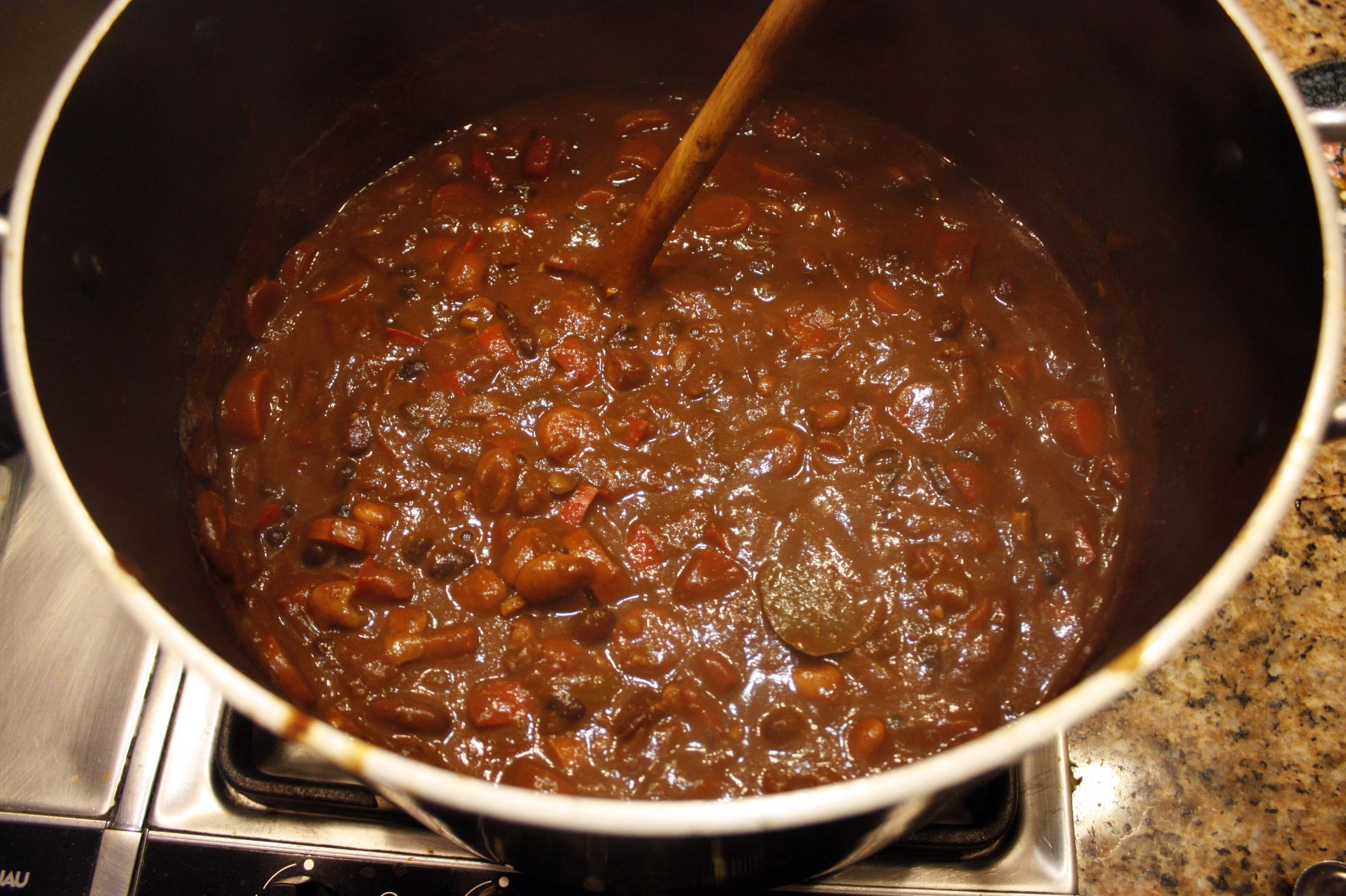 Smoky Chipotle-Cocoa-Masala Spiced Vegetarian Chili