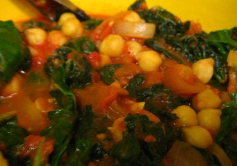 Chana Saag (vegan, gluten free)