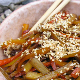 Kimpira (Stir-fried Carrot & Burdock Root)