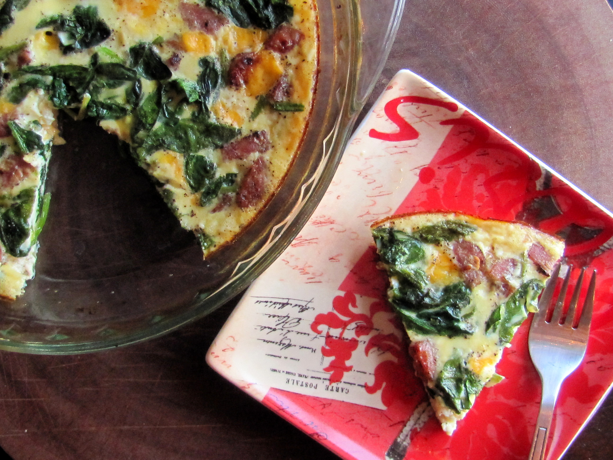 Crustless Sausage & Cheese Quiche