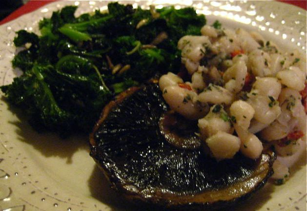 Oven Roasted Portobello Mushrooms marinated in Balsamic (Vegan, Gluten Free) Vinegar, Shallots and Thyme