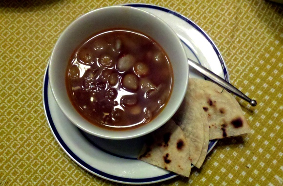 Spicy Stewed Black Eyed Peas and Baby Limas with Corn Quesadillas