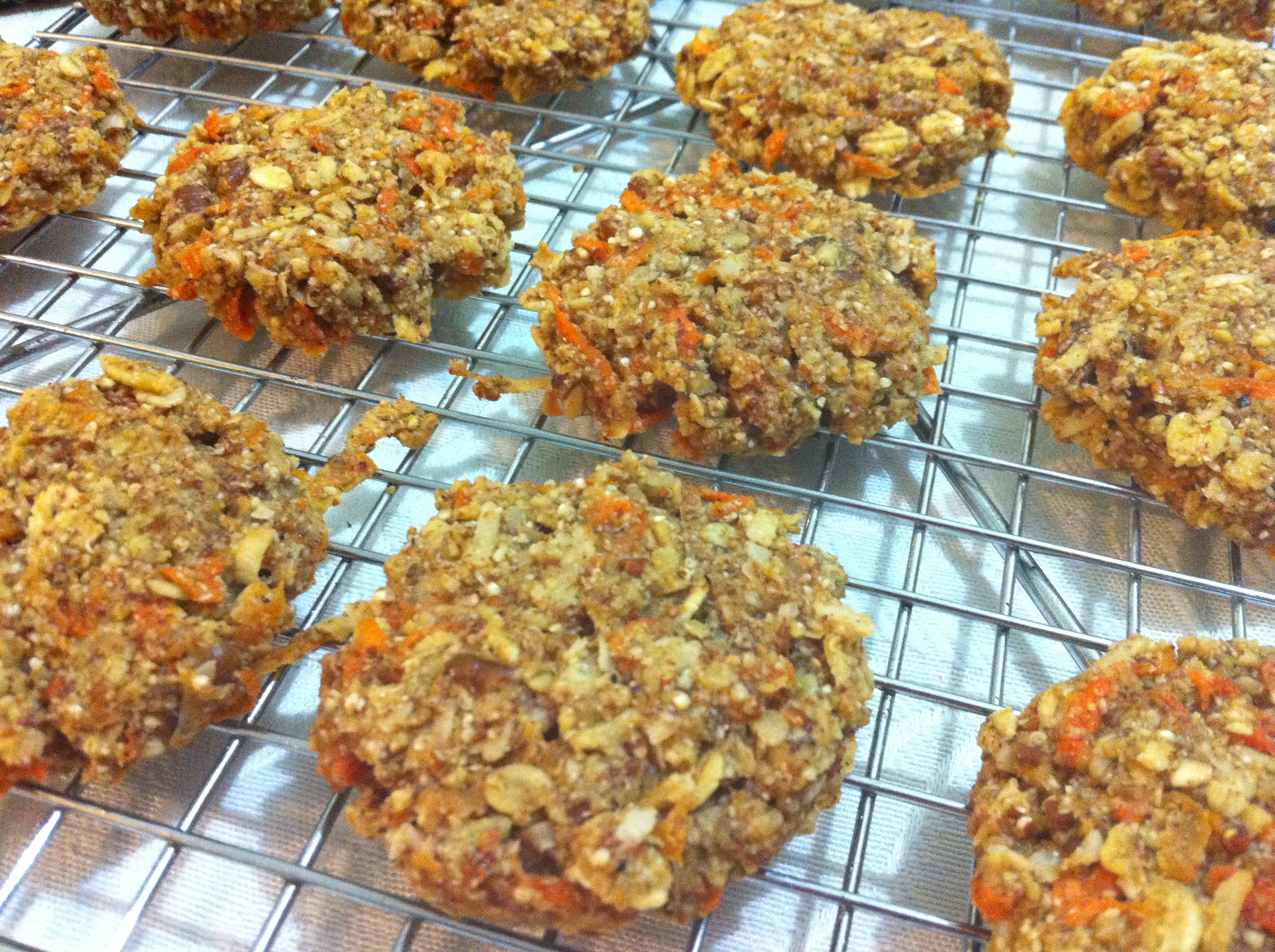 Olive oil red quinoa carrot cookies. Recipe on Food52