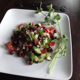 Black chickpea salad