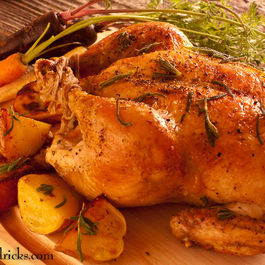 Perfectly Roast Chicken with Lavender