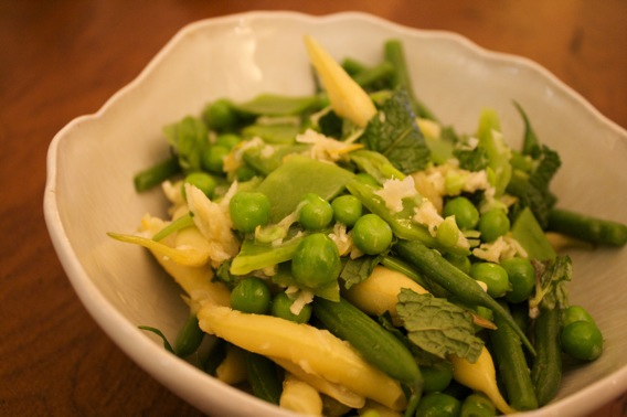 Spring Pea Salad with Horseradish and Mint Vinaigrette