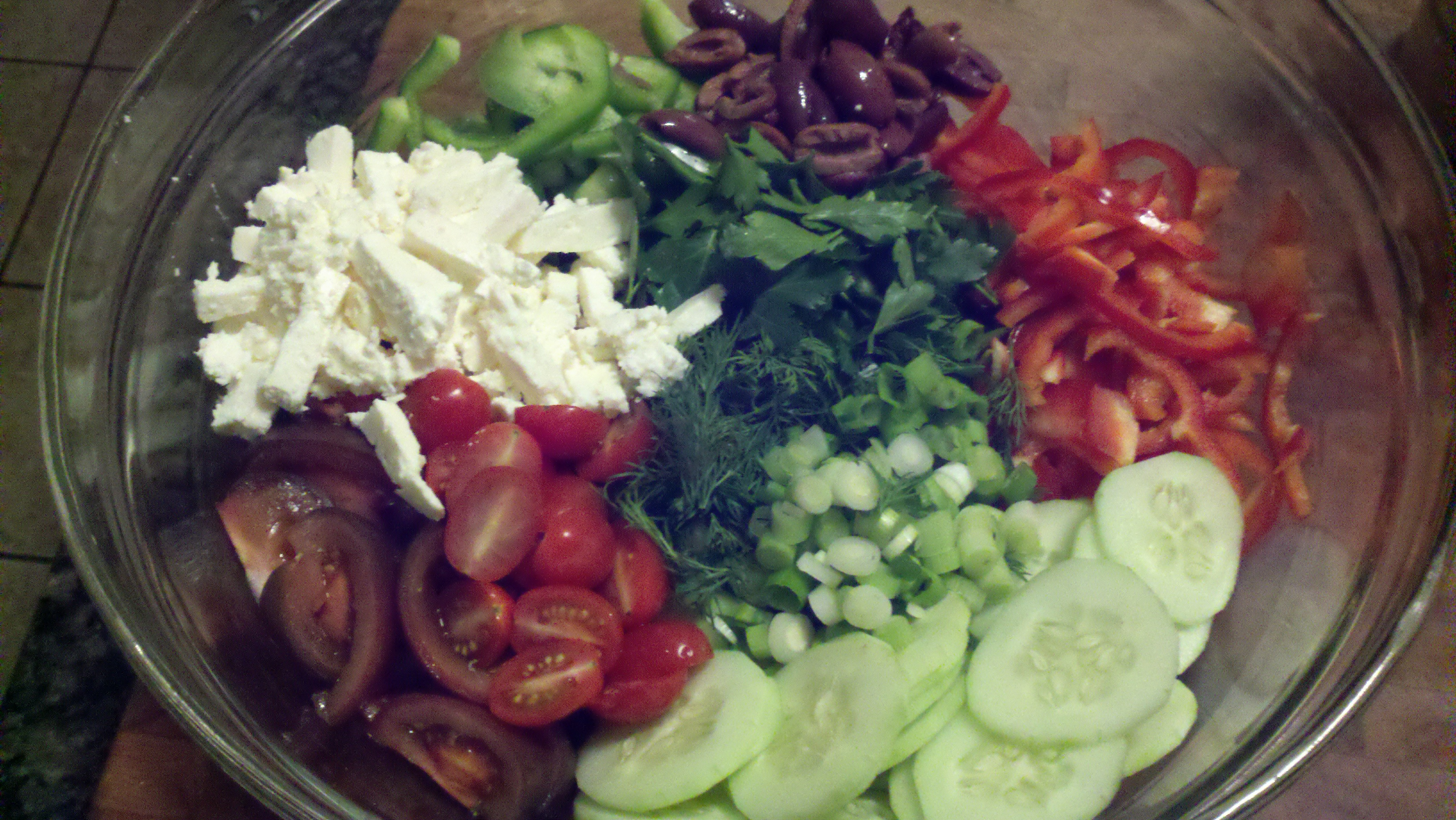 Hellenic Chopped and Sliced Salad