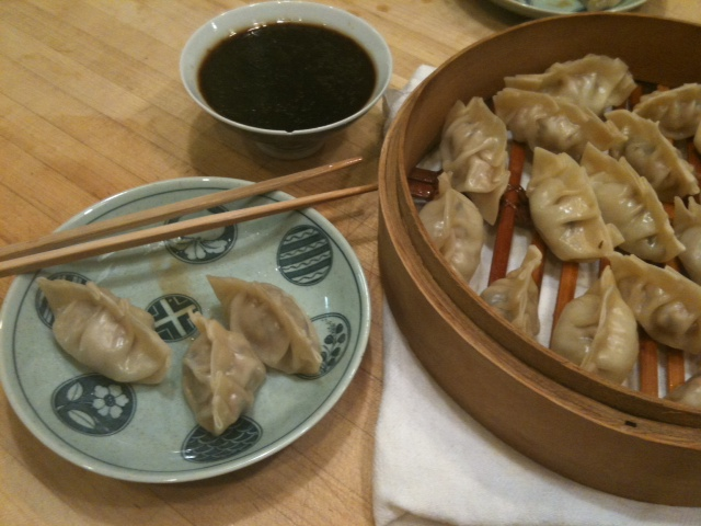Mushi-Gyoza (Steamed Gyoza)