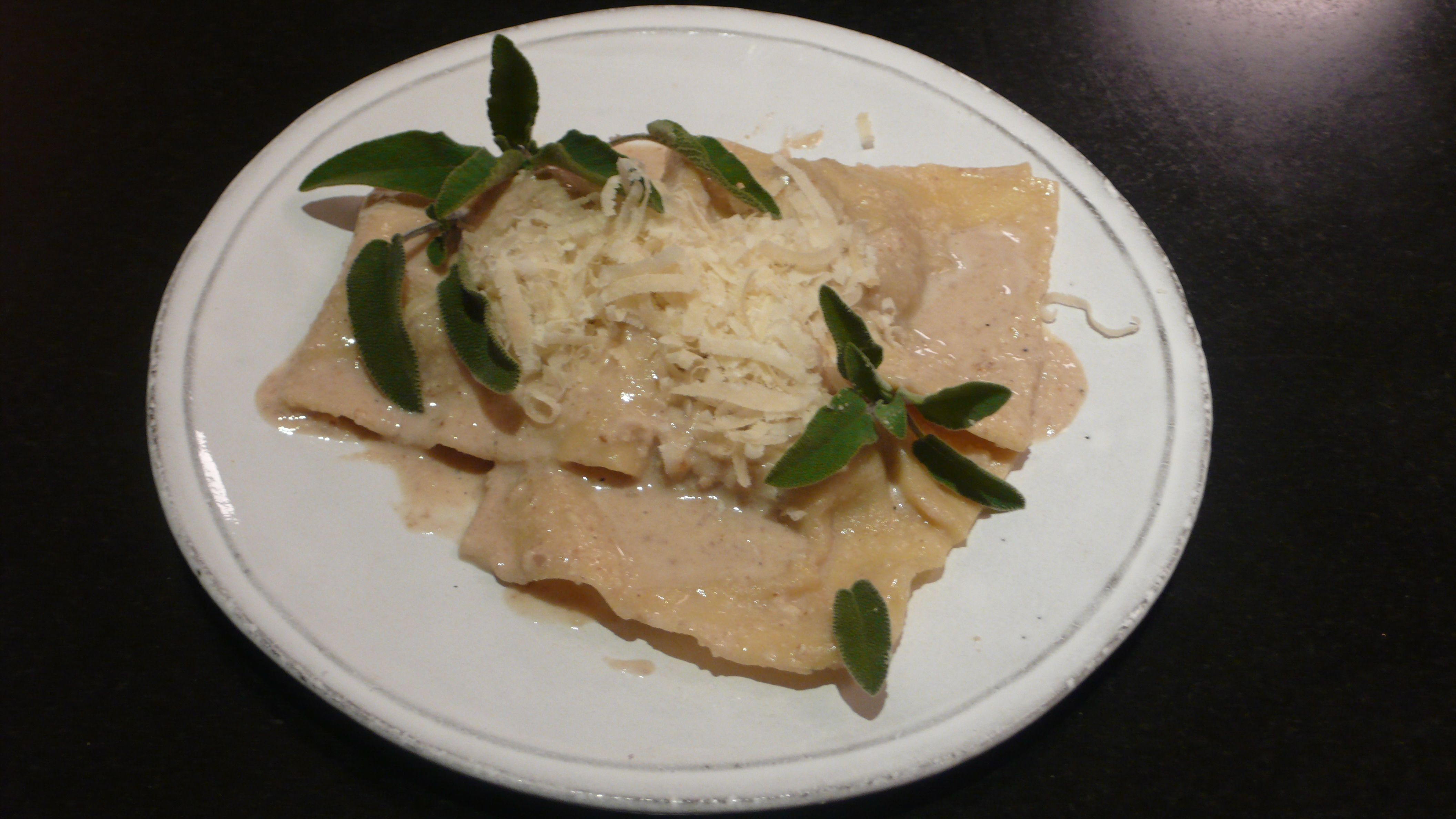 Veal Ravioli with Walnut Sauce