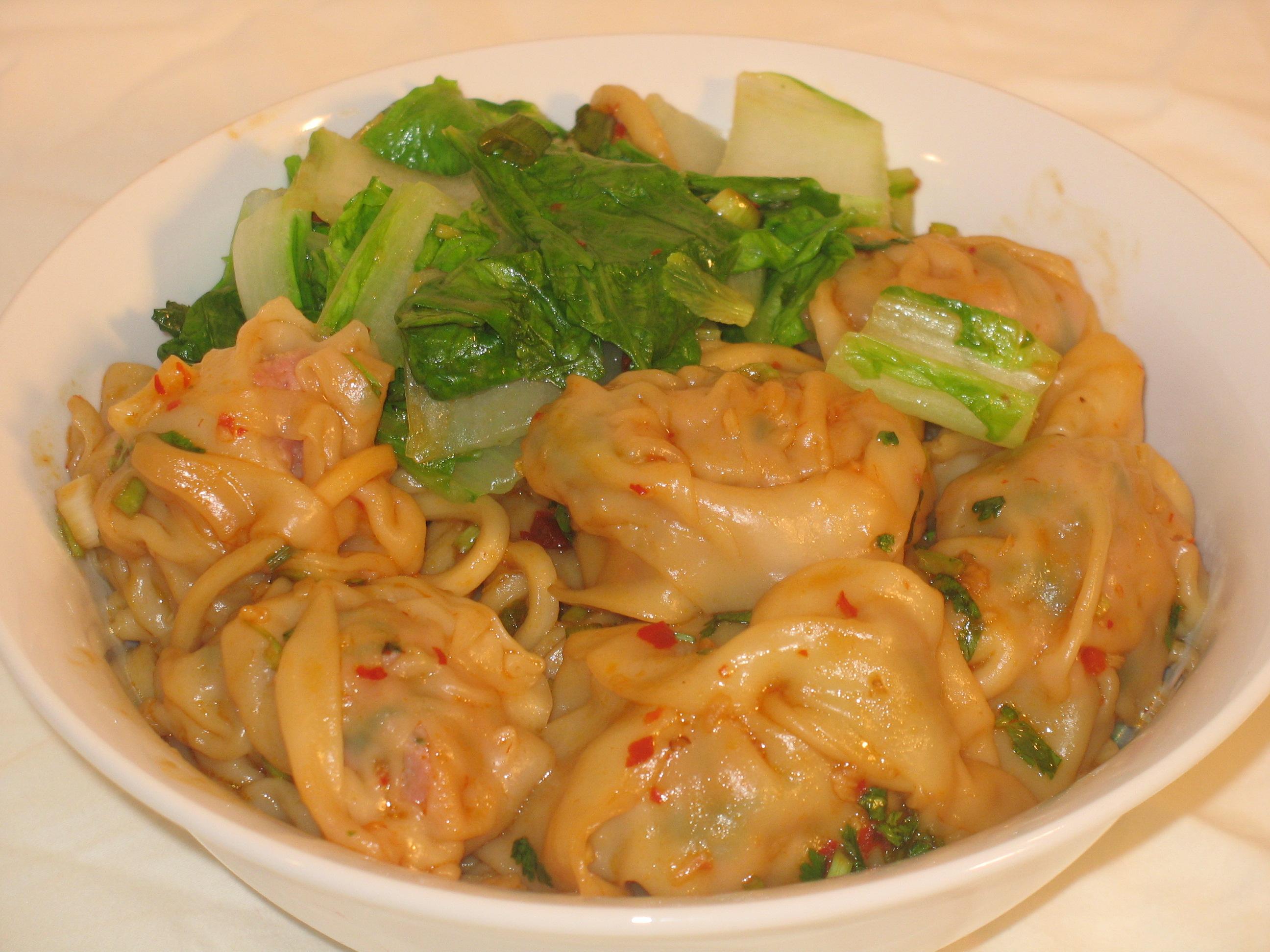 Spicy Dumpling Noodles