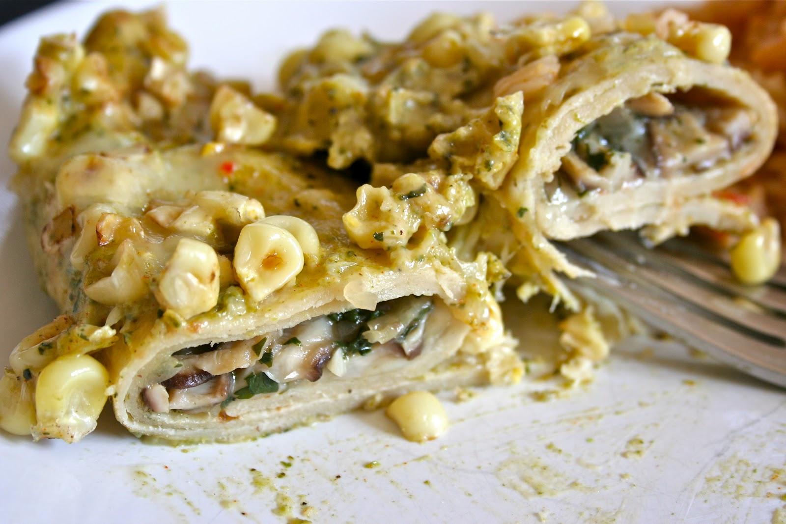 Shiitake Mushroom Enchiladas