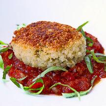 Quinoa-patties-stuffed-with-goat-cheese-mushrooms