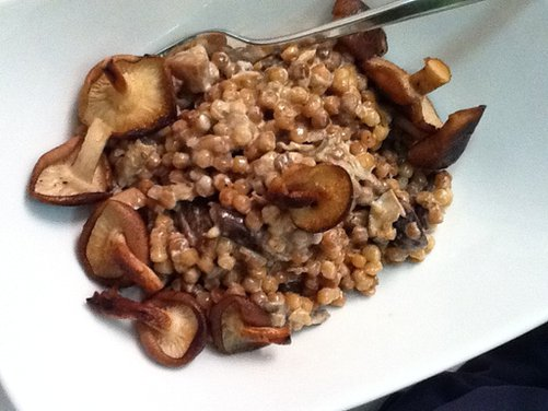 Creamy Israeli Couscous with Porcini and Shitake Mushrooms Recipe on ...