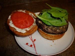 Grilled Stuffed Portabello Mushroom Burgers