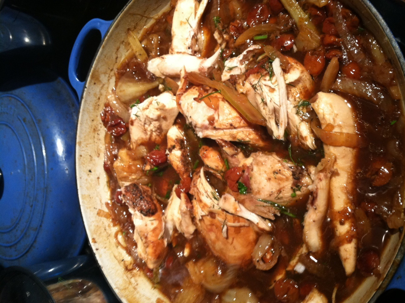 Brewed and Braised Cherry Chicken