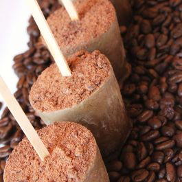 Coffee-Cardamom Ice Pops with Guittard Chocolate Powder