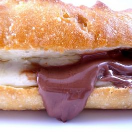 Swiss Cheese and Chocolate Sandwich