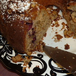 Cinnamon Almond Cake with Wild Texas Blackberries
