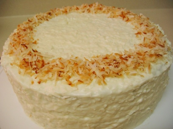 Banana Cake with Coconut Cream Cheese Frosting
