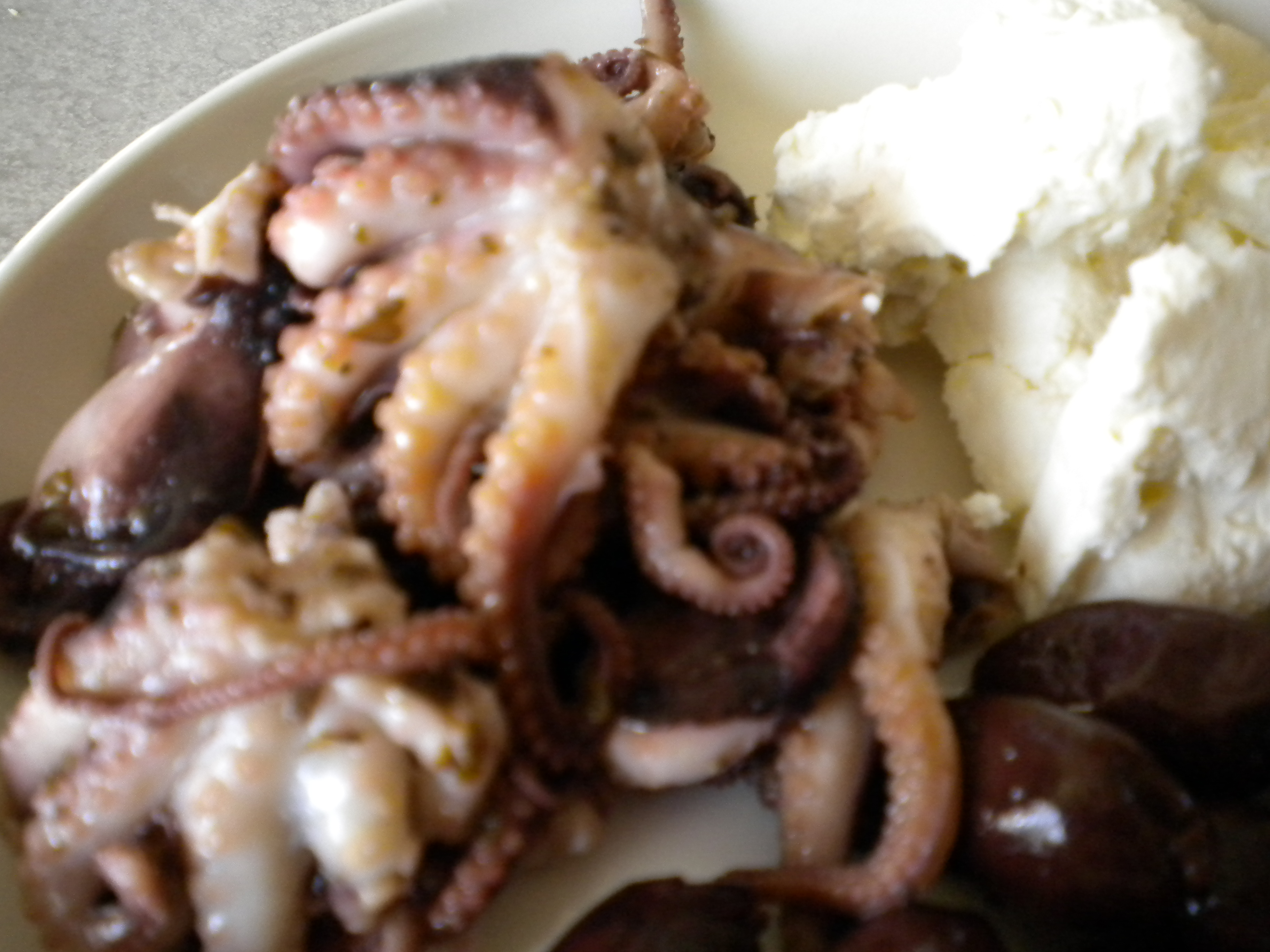 Marinated and Grilled Baby Octopus
