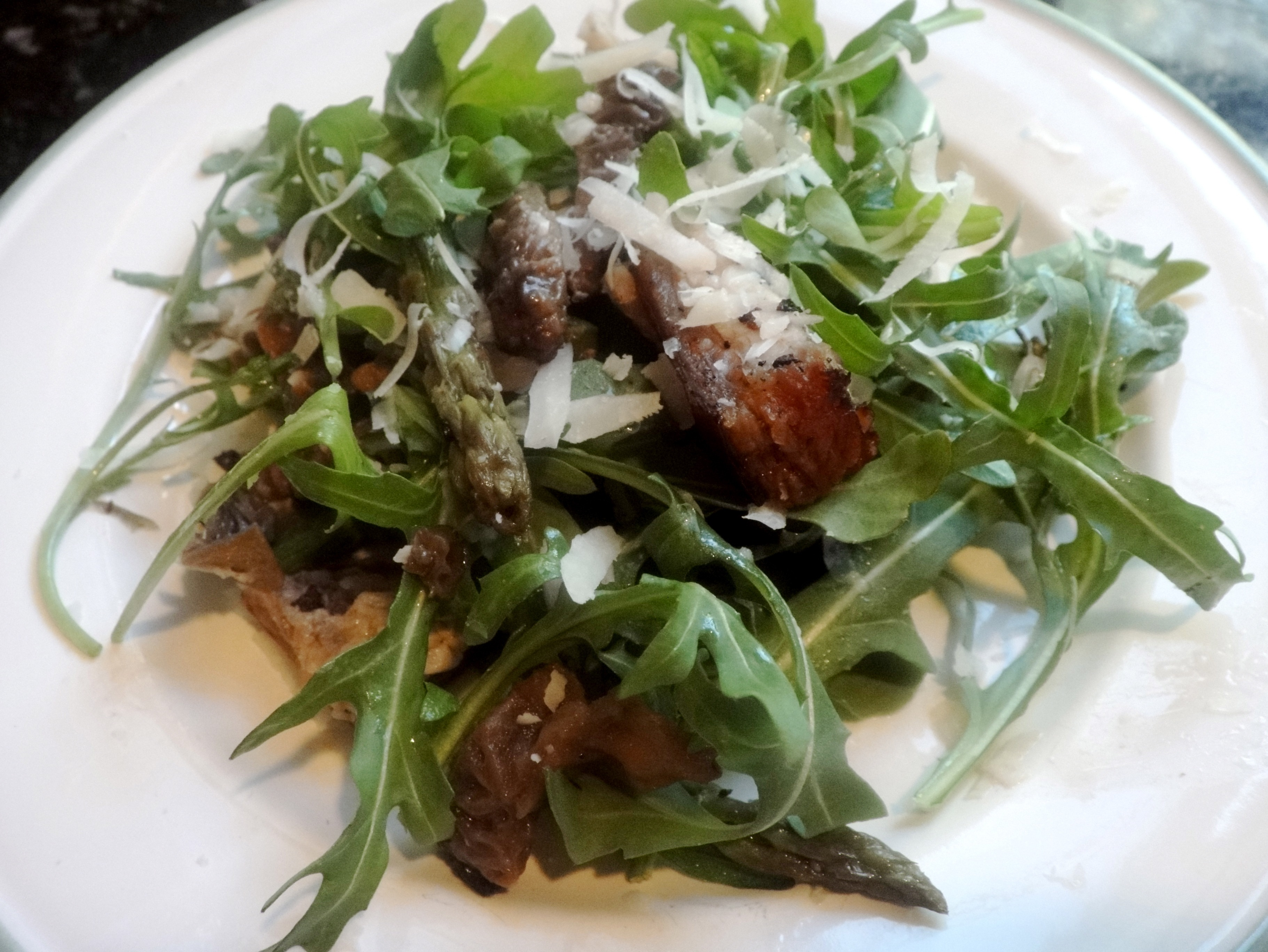 Pork Belly and Morel Spring Salad