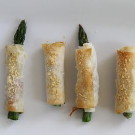 Asparagus with Serrano, Manchego, Phyllo...and oh yes Butter!