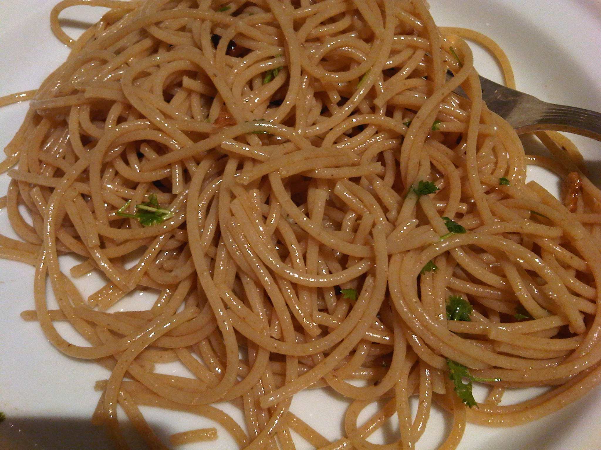 Aglio Olio e Peperoncino (with small variation)