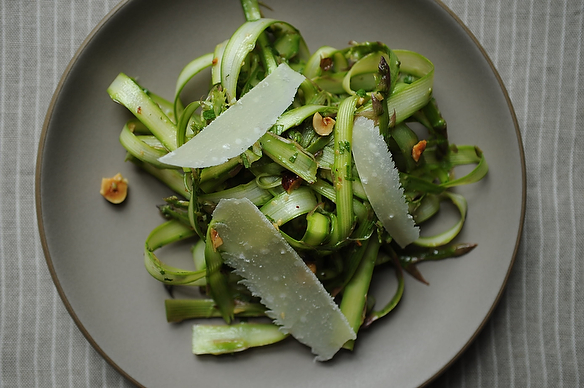 Shaved Asparagus and Mint Salad
