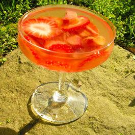 Strawberry Rhubarb Bowle