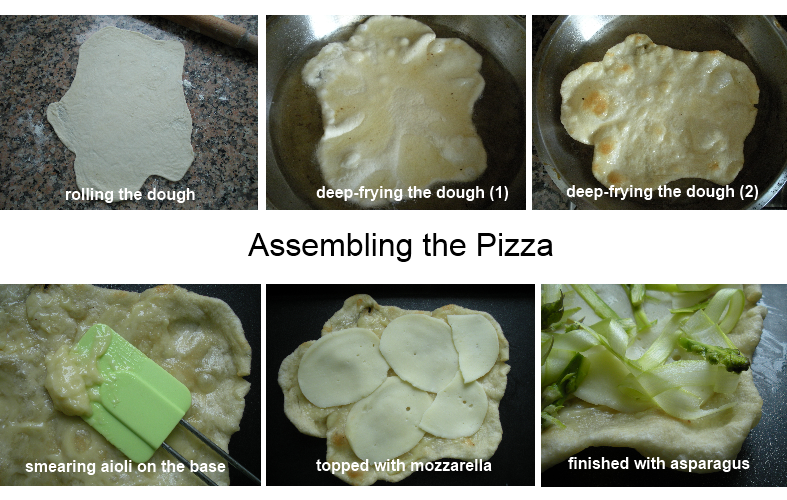 Fried Asparagus Pizza with aoili