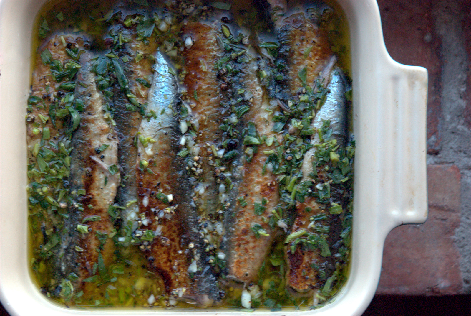 Sardines en Escabeche with Fresh Tarragon