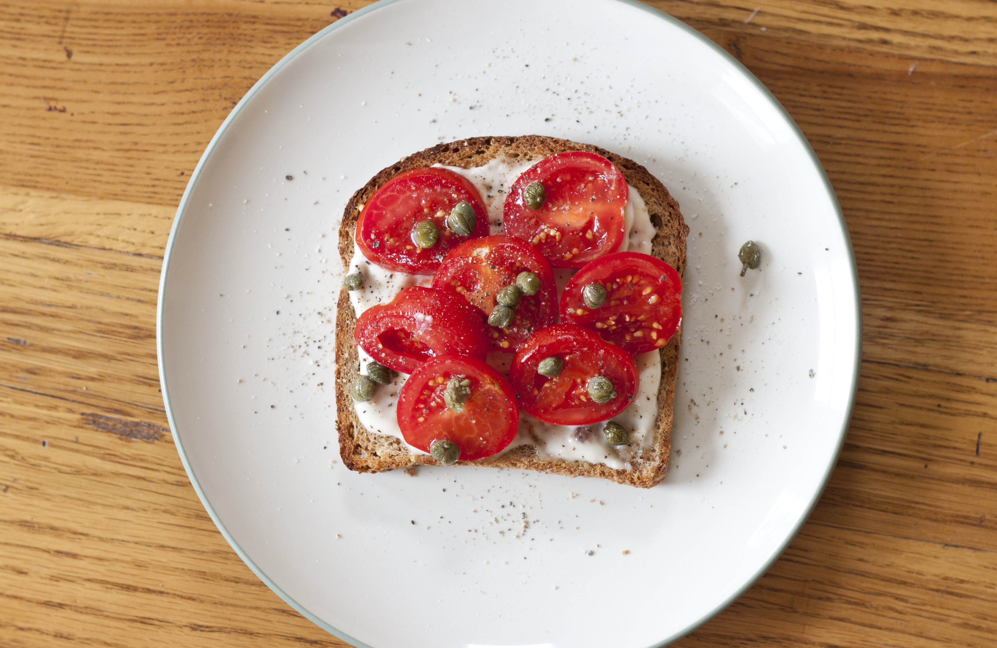 Tomato Sandwich with Anchovy Aioli