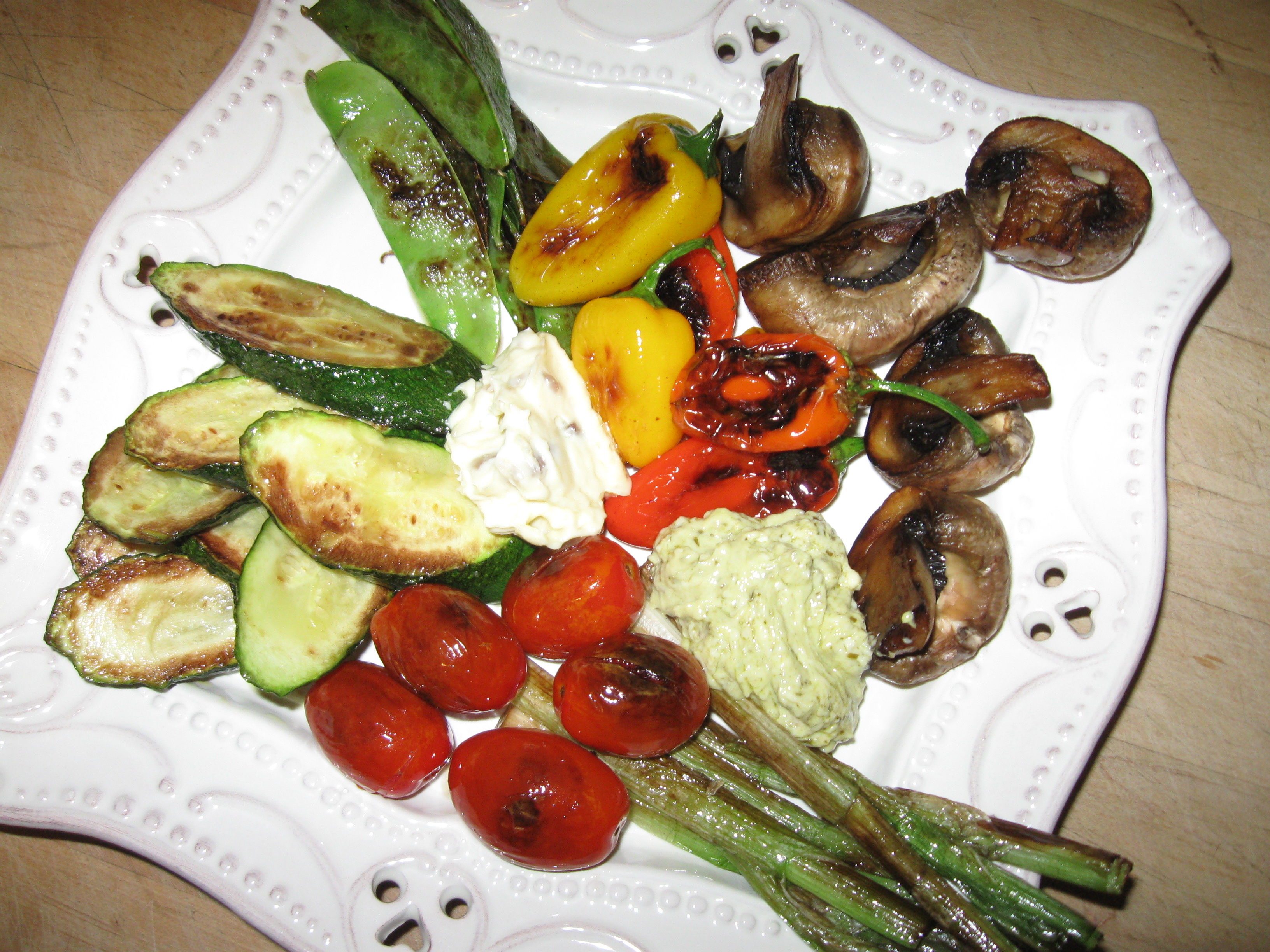 Grilled Vegetables with the Aïoli Sisters