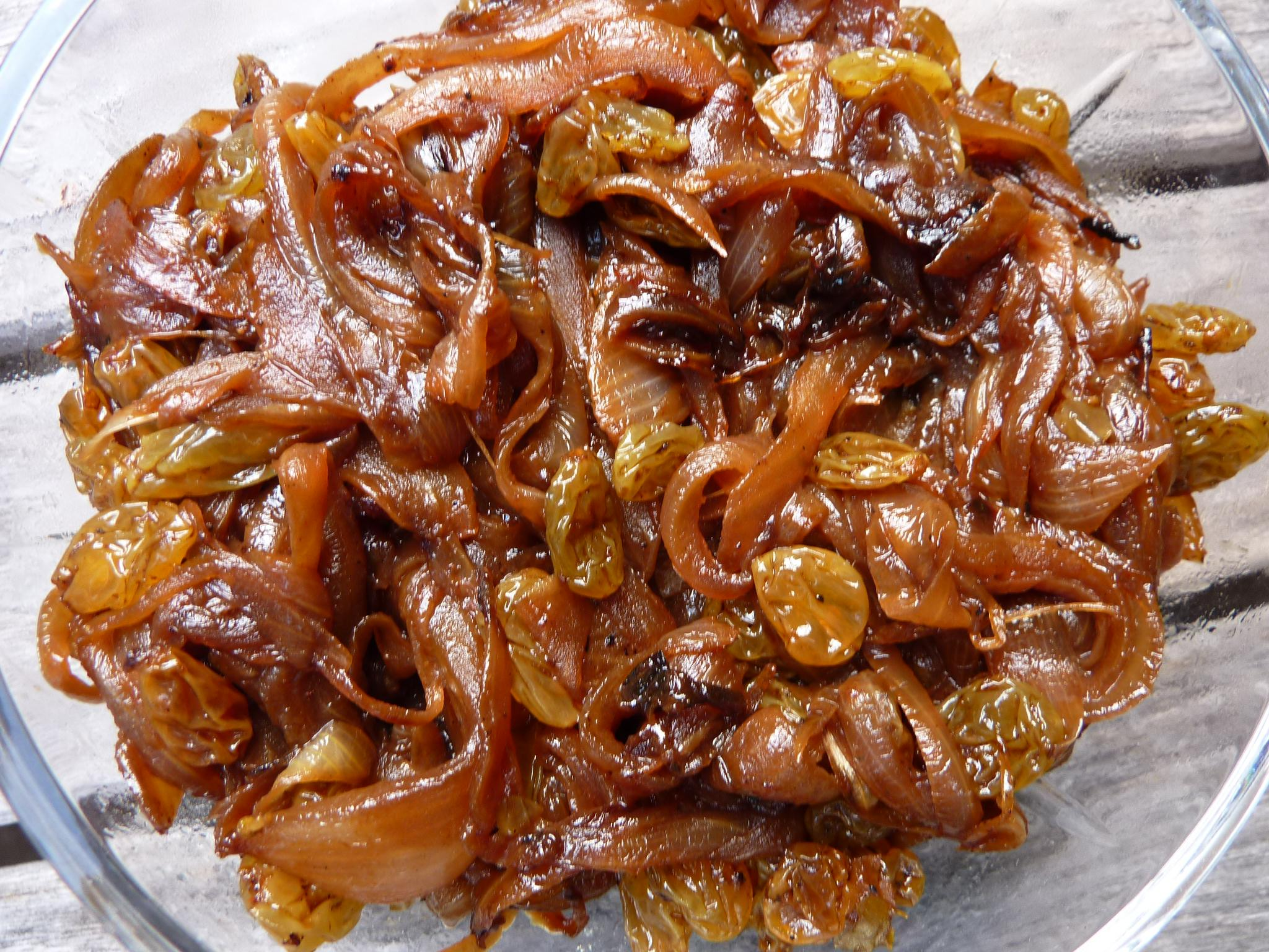 Moroccan Onion Confit with Raisins