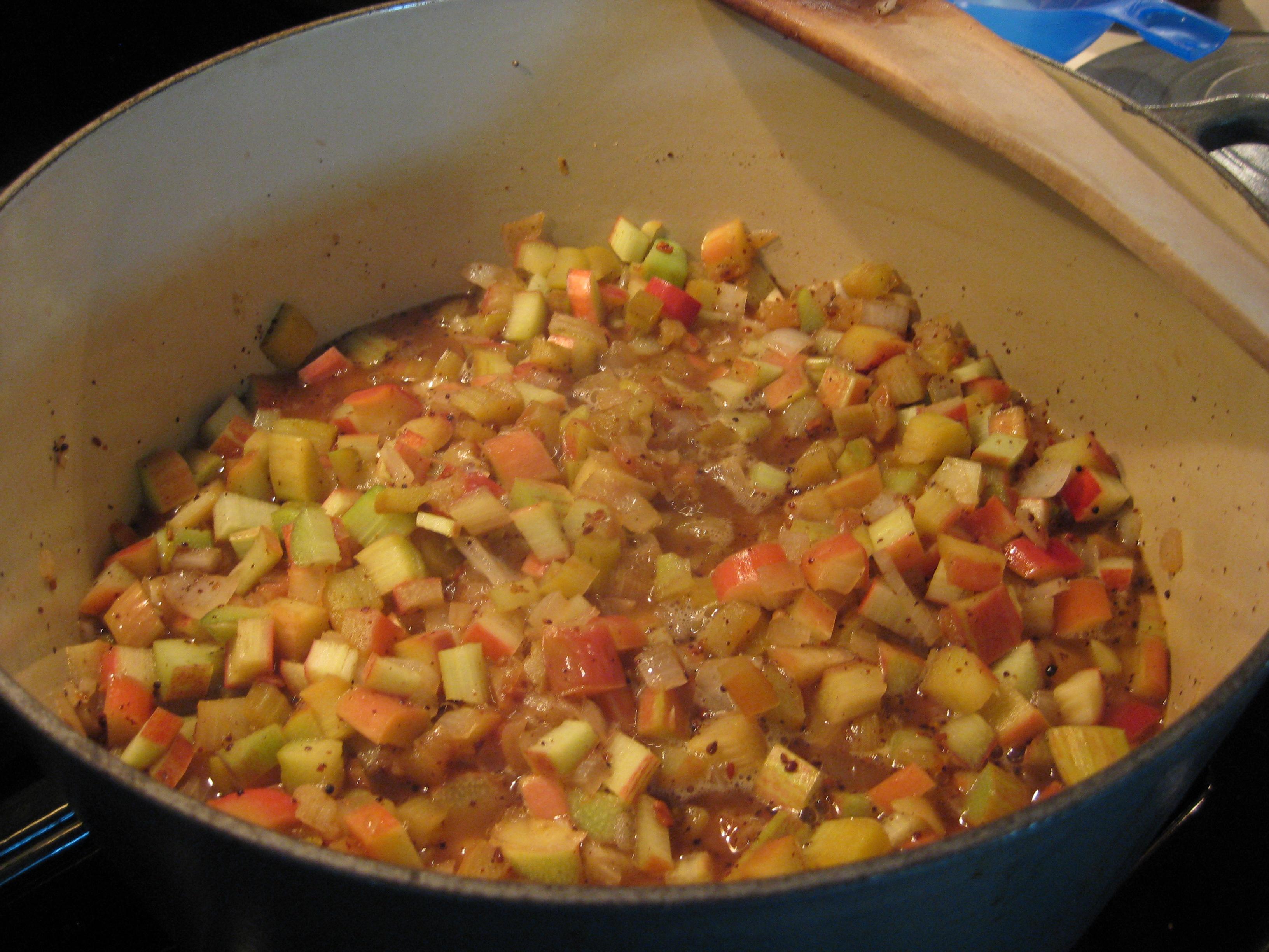 Rhubarb Peach Chutney recipe on Food52.com
