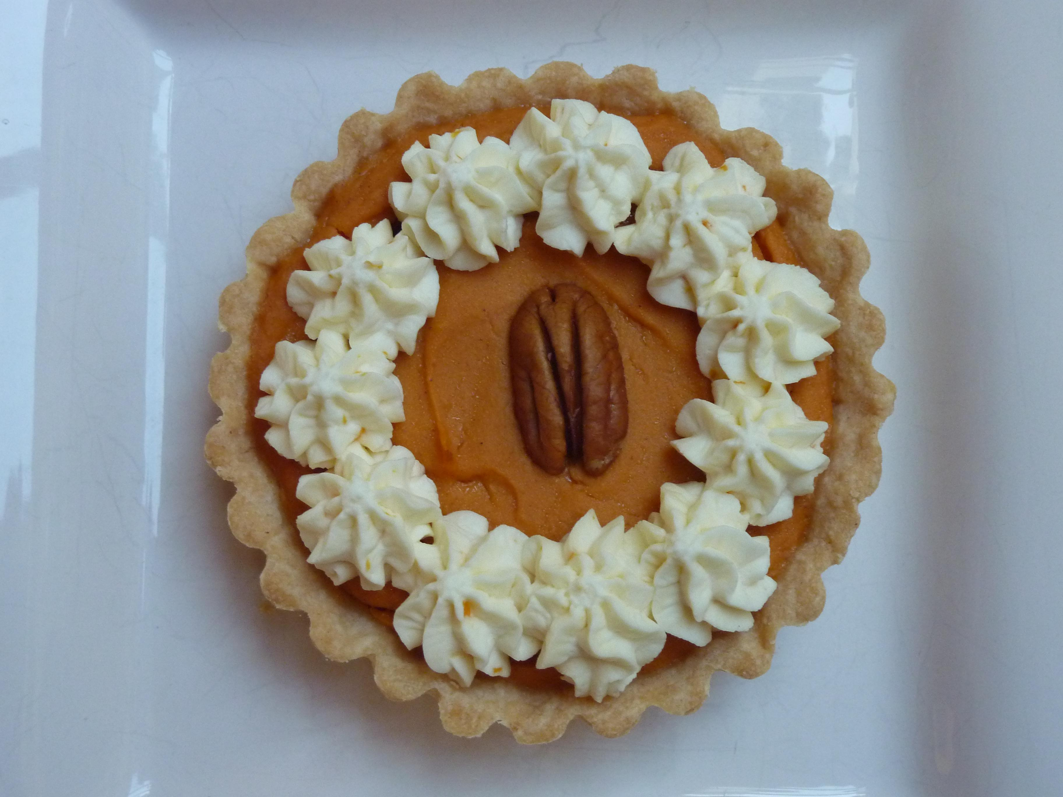 Sweet Potato Rum Tart with Rum Whipped Cream