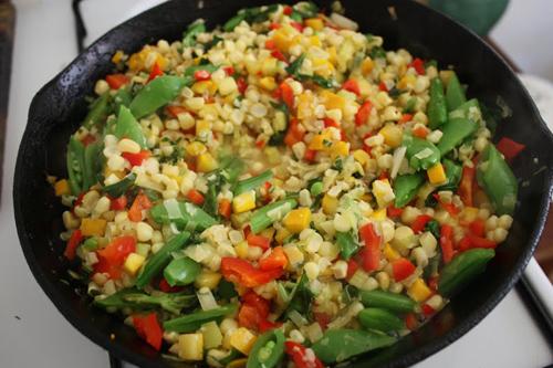 Summer Corn and Squash Saute