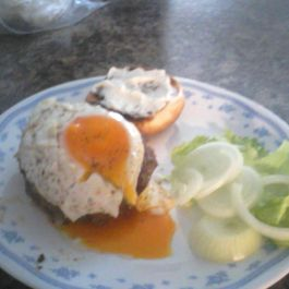 Iceland Style Burgers  AKA Rocky Sunrise  Bacon and Egg Burgers