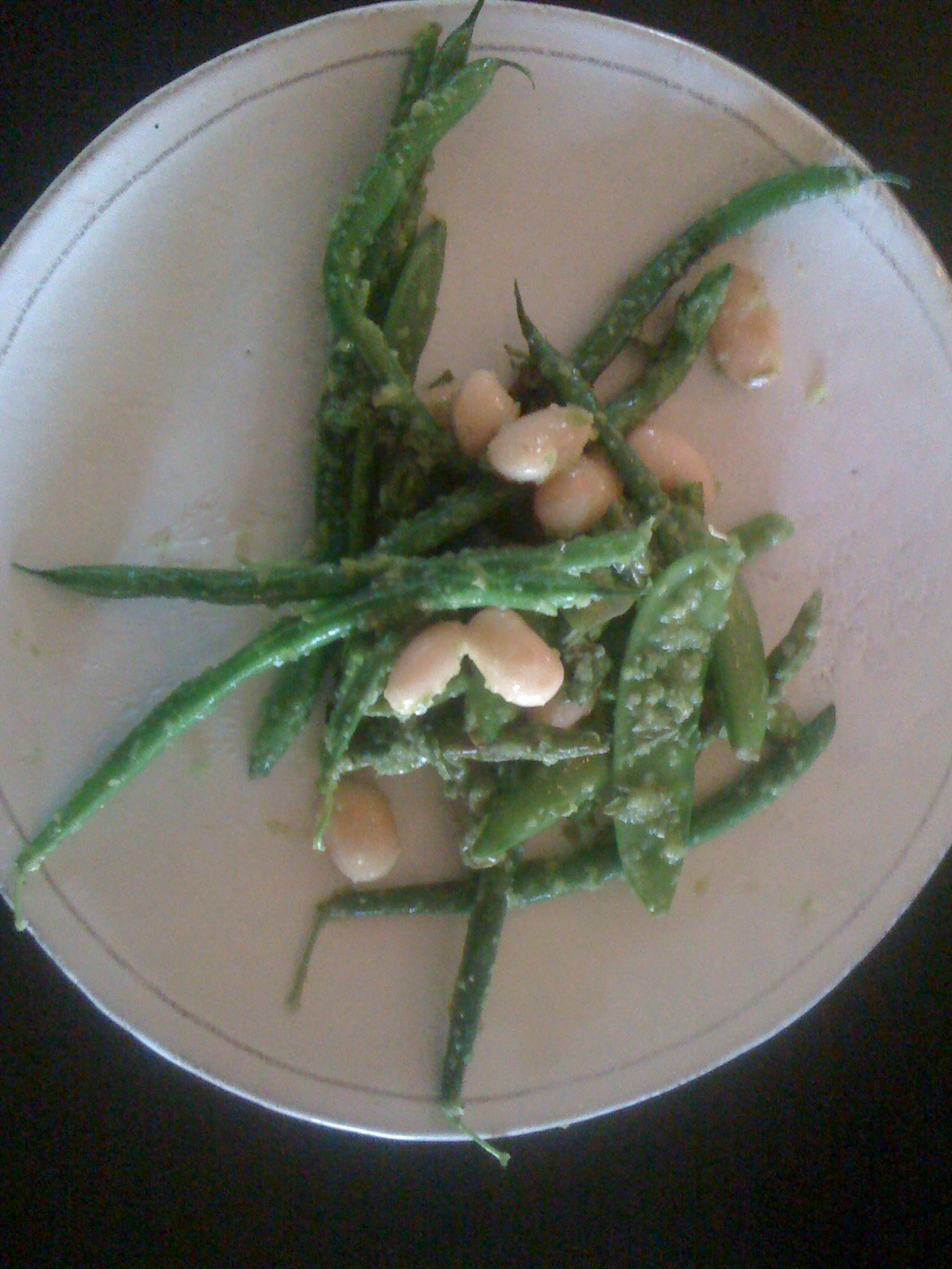 MELANGE OF ASPARAGUS, PEAS, AND GREEN BEANS