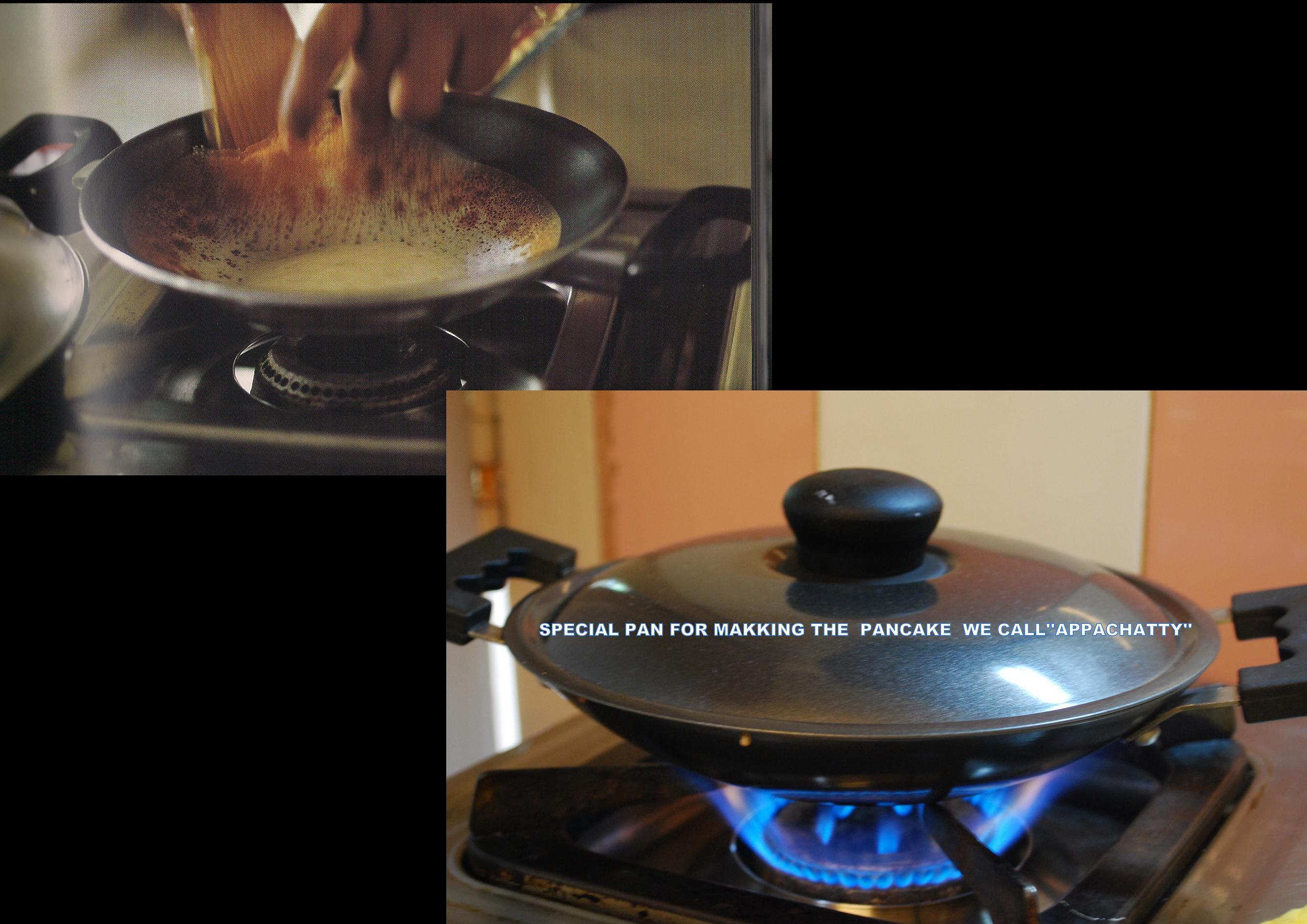 PALLAPPAM (Crisp Laced Rice Pancakes)