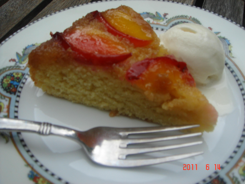 GF Nectarine Upside Down Cake