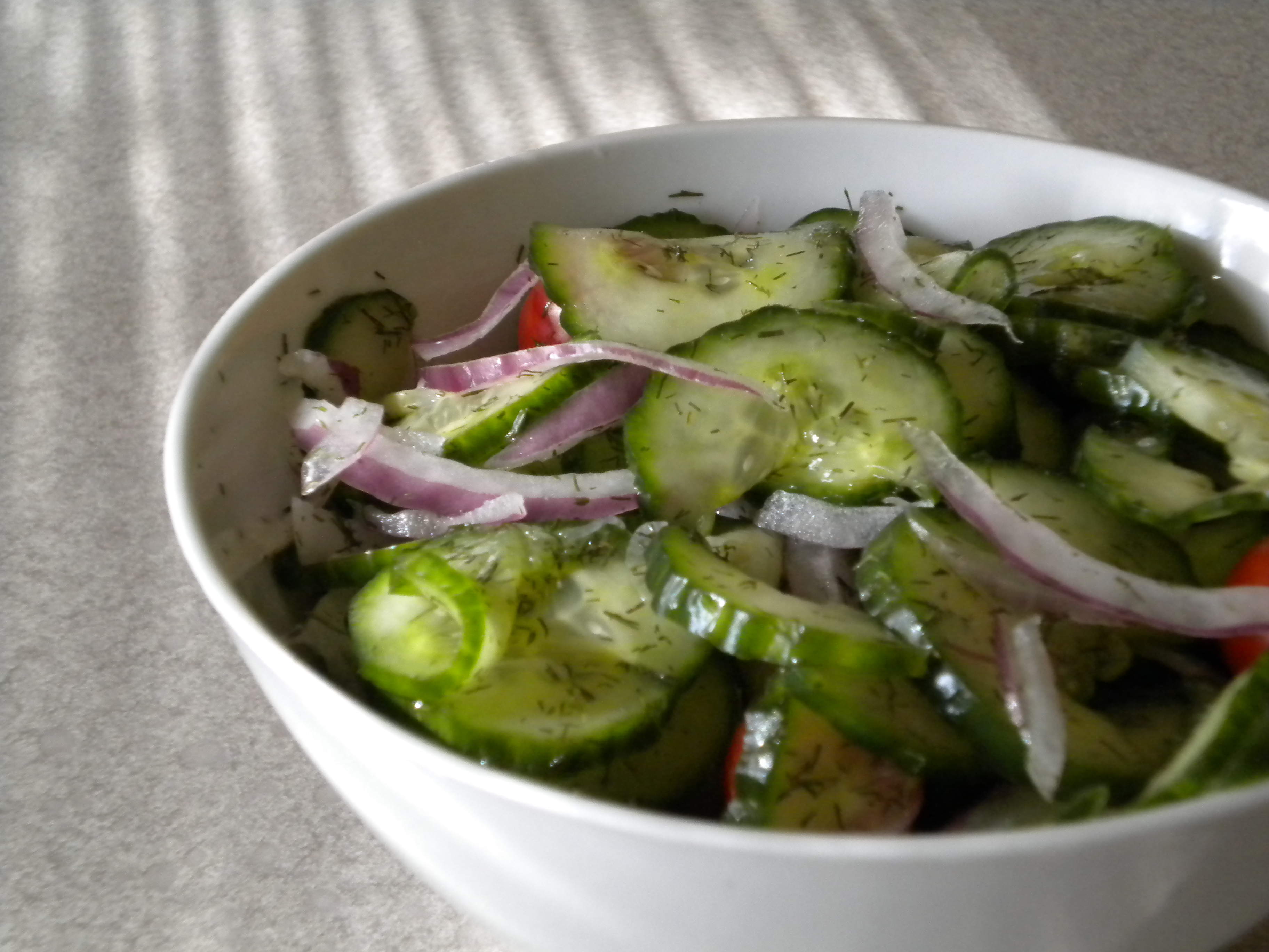 Wilted Cuke Salad