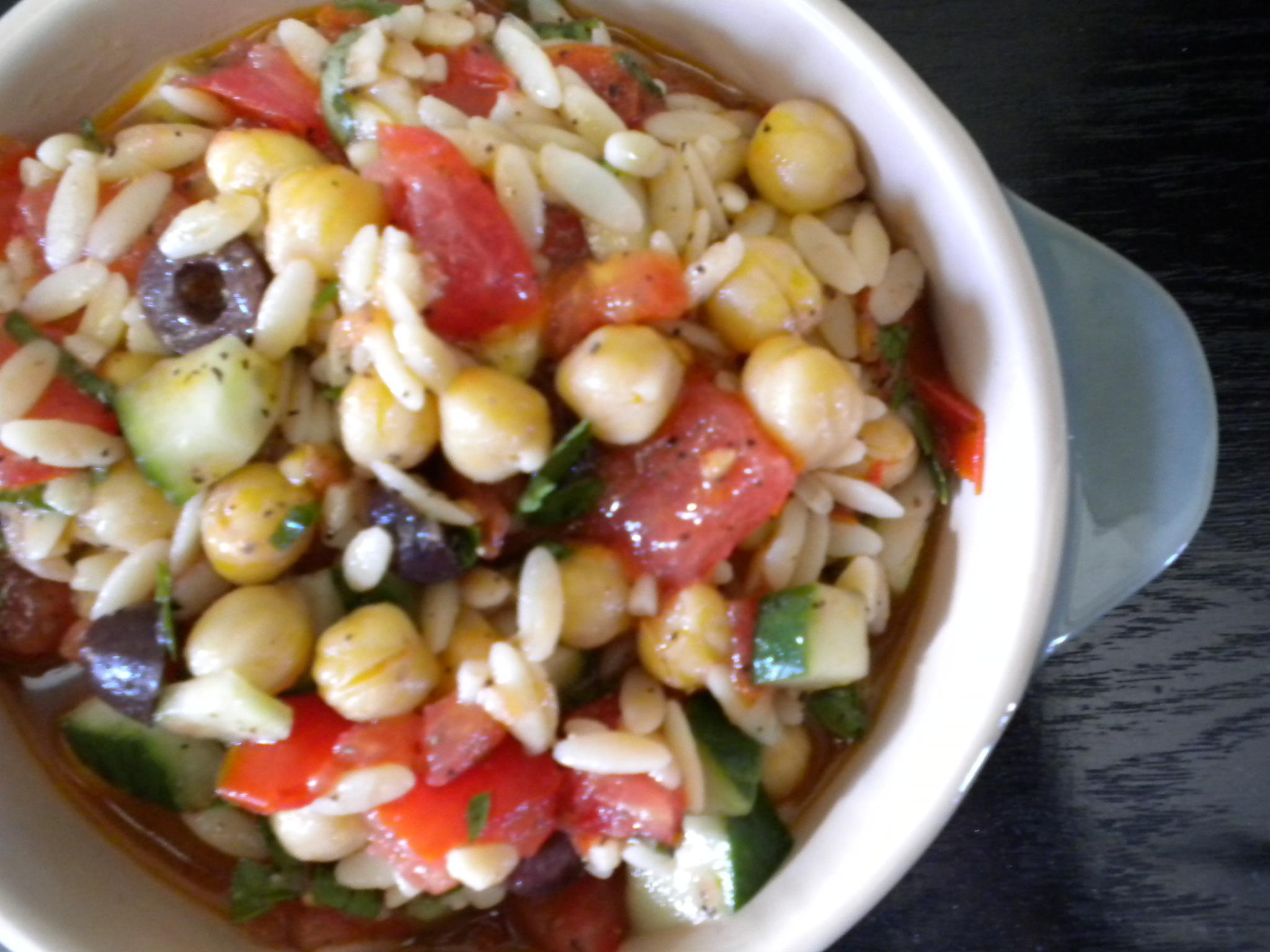 Tomato, Orzo and Chickpea Salad