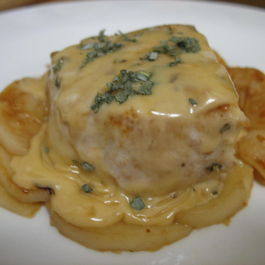 Pork & Apples with Apple-Brandy-Sage Cream Sauce