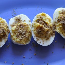 Dukkah Deviled Eggs